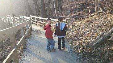 My two oldest children at the Gorge in Ohio