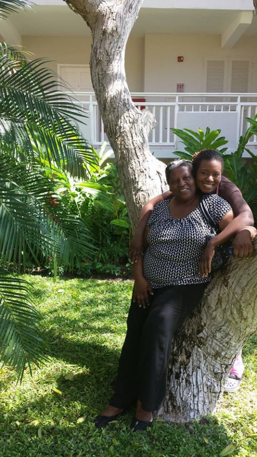 My lil sis and her mom at Beaches Ocho Rios