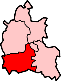 Map location of Vale of White Horse District, Oxfordshire