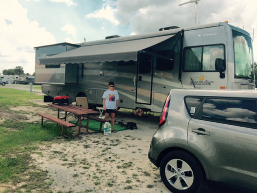 Campsite in TT Orlando