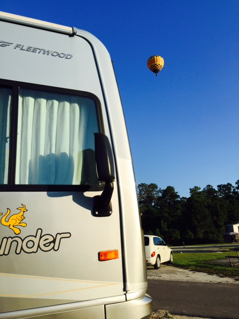 Air Balloons over the Campground