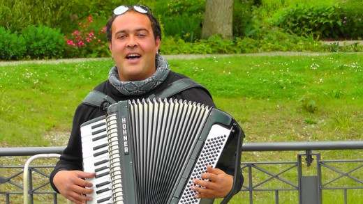 Happy-go-Lucky accordionist