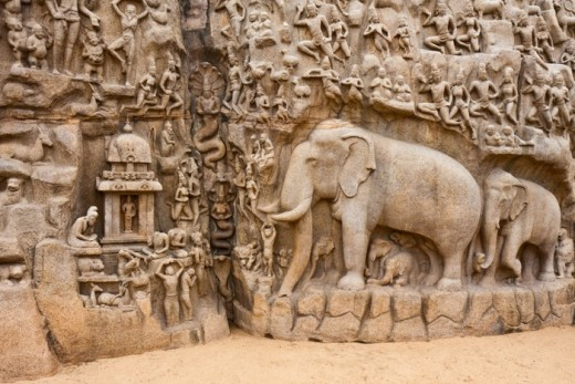 Carvings on the Shore Temple