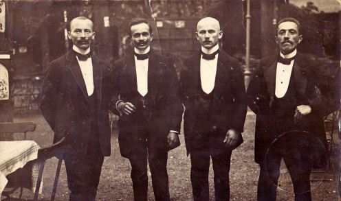 European waiters in the early 1900's.