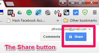 The Share button