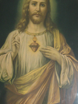 Sacred Heart of Jesus hanging on my wall