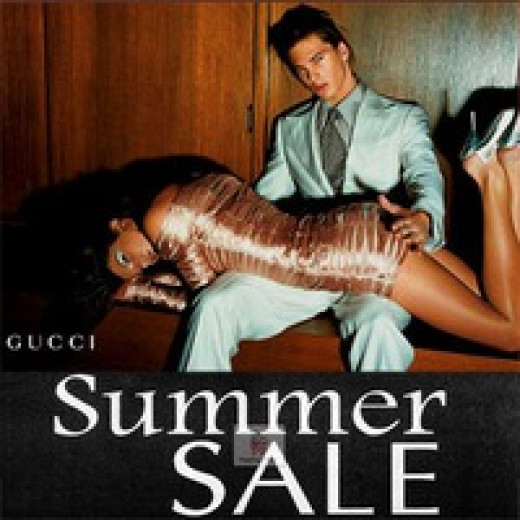 A Gucci advert that blatantly highlights a link between sexuality and violence.