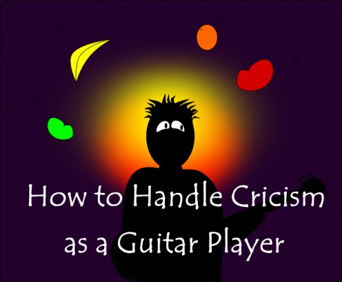 As a guitar player it is important to learn how to deal with the criticism and negativity that comes with playing in public.