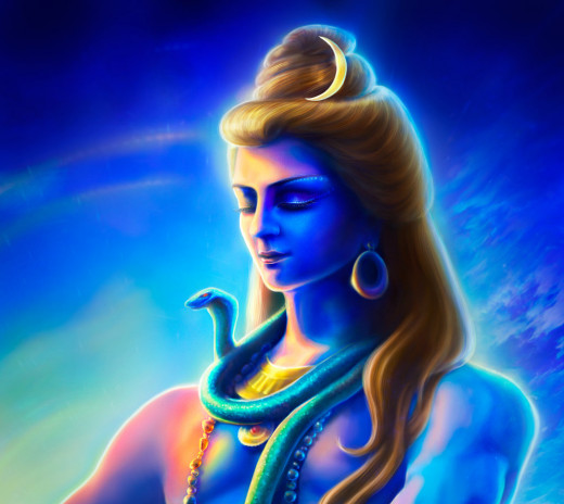 Shiva meditates in the peace. He is the creator as well as the destroyer of this Universe. When He wakes up from the meditation, the destruction comes along.