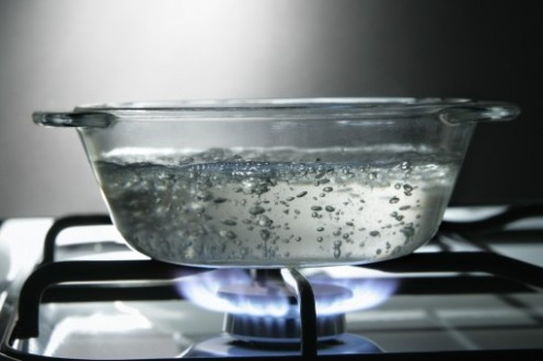 3. Heat some water in a pan.