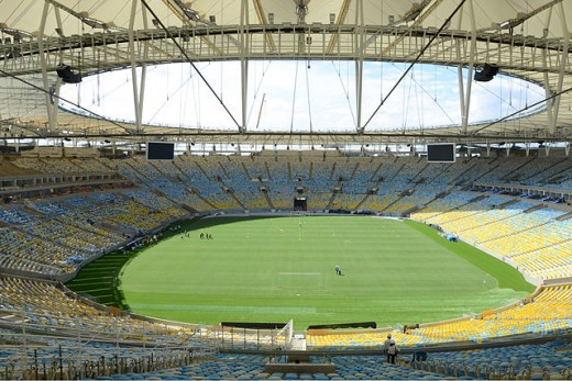 Maracanã Stadium, site of the opening and closing ceremonies, in addition to the finals of football.