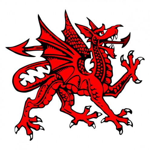 The Welsh dragon who ate the Saxon White Dragon.