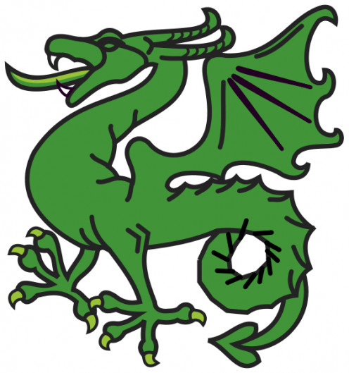 """The Salvic Dragon, also known as """"Smok"""""""