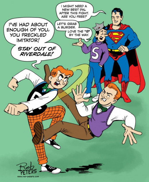 Archie vs Jimmy Olson by Rob Peters
