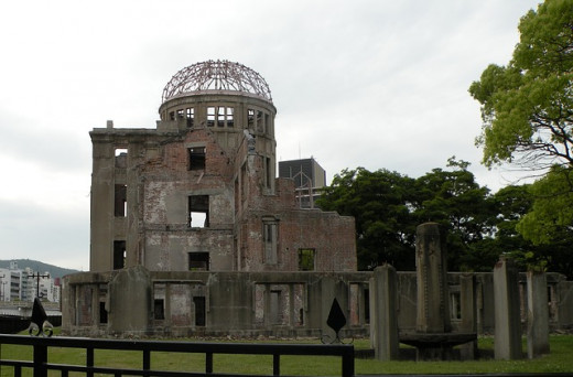 Peace Memorial in Hiroshima - a bombed building.