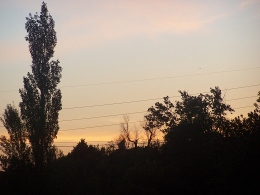 Bid good by to the setting sun at evening...
