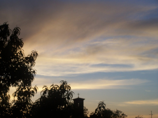 Be at peace with my thoughts in evening's fading light..