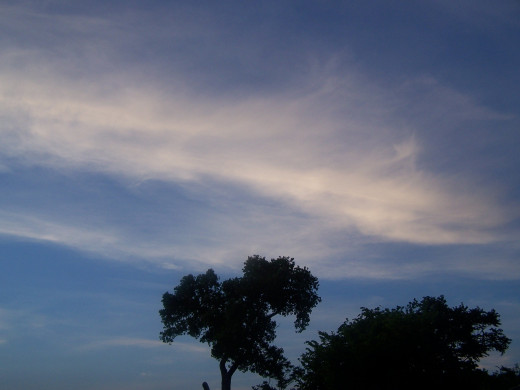 I'd be as one with the wispy clouds...
