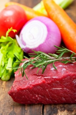 Red meat is a good lasting source of iron.  It is usually a physician's first recommendation for iron deficiency anemia.