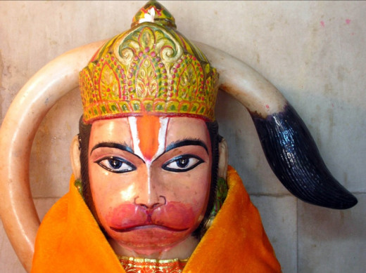 Hindu monkey god Hanuman