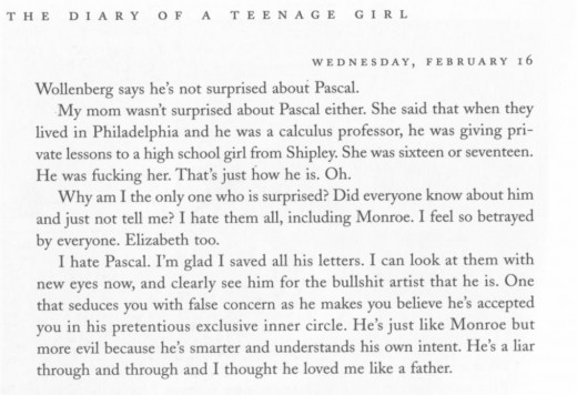 "The entry in which she describes her former step-father, Pascal, who was also featured in Gloeckner's previous book, ""A Child's Life."""