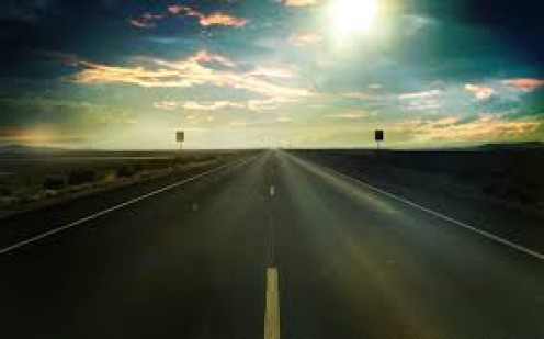 Even this road looks lonely.