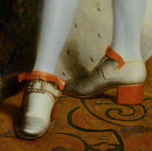 King Louis XIV in red heels