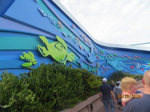 The outside of Nemo's exhibit.