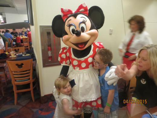 Dinner with Minnie.