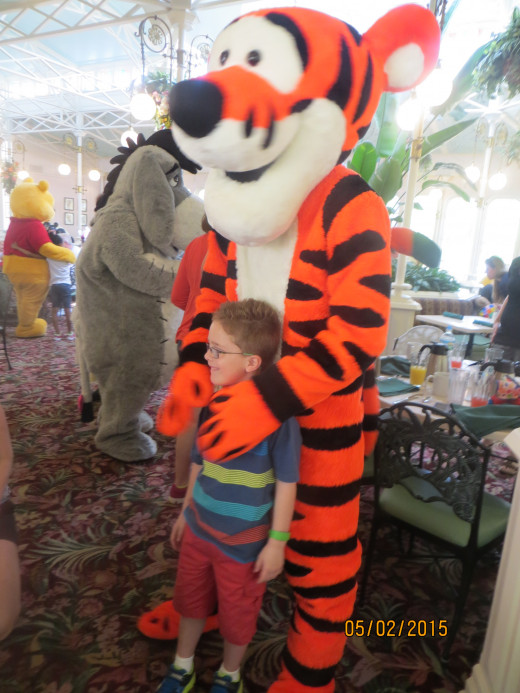 Breakfast with Tigger.