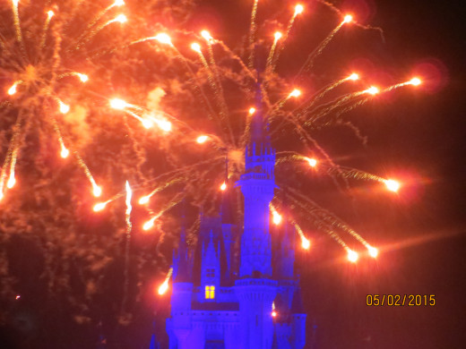 Fireworks over the castle.