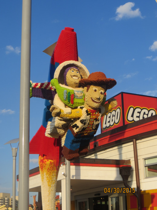Buzz and Woody made of Legos!