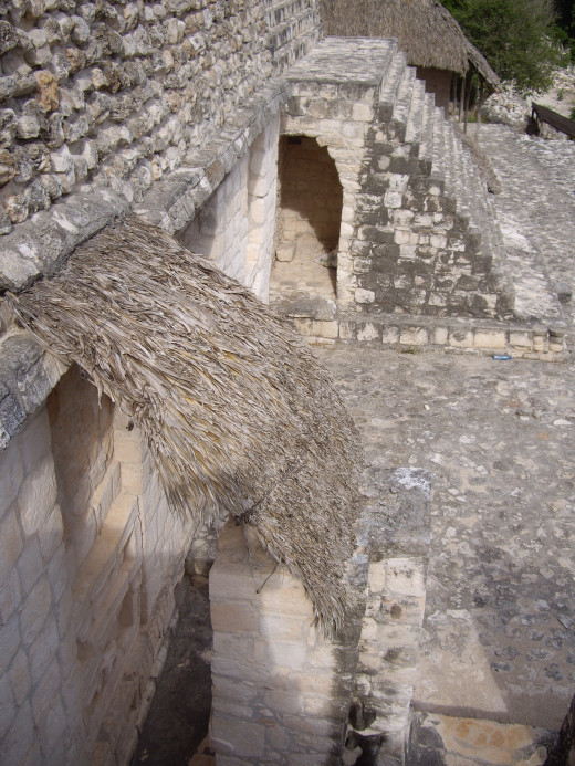 View from the side of one of the layers of the Acropolis, Ek Balam, Yucatan