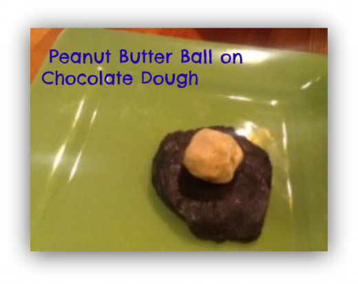 Peanut butter on top of chocolate -- yum!