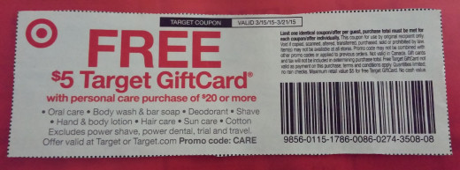 Target store coupons example
