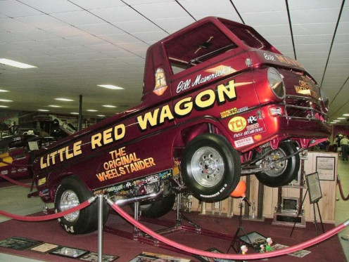 Little Red Wagon on display in Don Garlits' Racing Museum in Ocala, Fla.