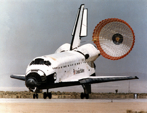 Space Shuttle could land like a conventional airplane.