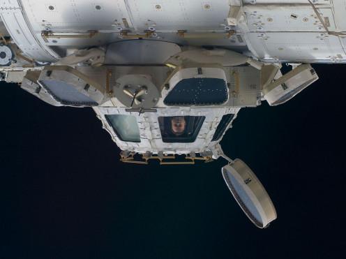 Docking station on International Space Station