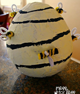 chenille bees how to make