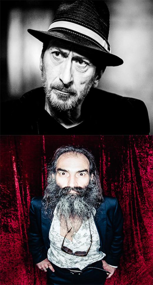 Top: Frank Miller, Bottom: Warren Ellis
