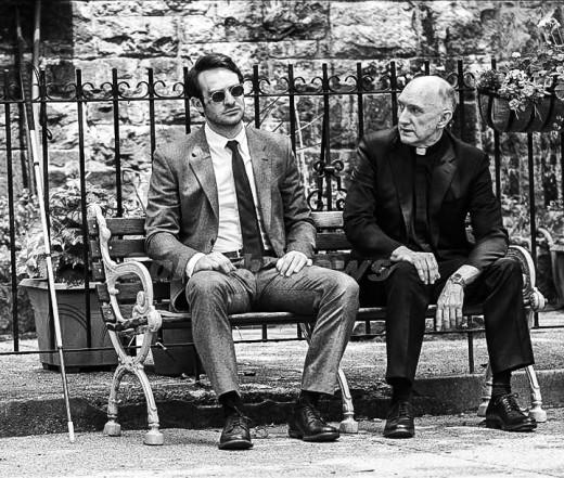 Charlie Cox (left) as Matt Murdock