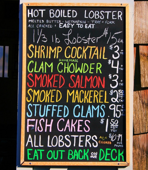 I'll have the lobsta, and a docta peppah.  Translation:  I'll have the lobster and a Dr. Pepper.