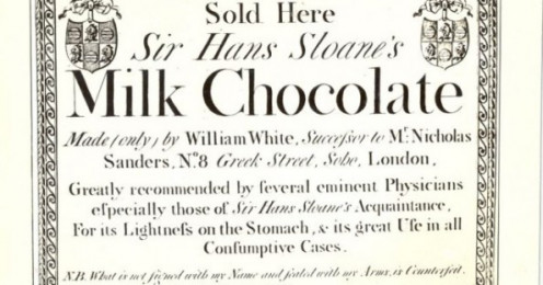 An early  poster - Sir Hans Sloanne's chocolate