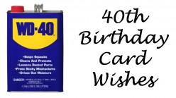 40th Birthday Wishes: Messages and Poems to Write in a 40th Card