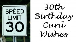 30th Birthday Card Messages: 30th Birthday Wishes and Poems