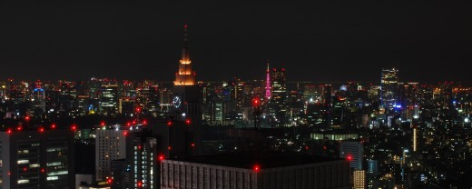view of Tokyo at night from the Shinjuku Government building
