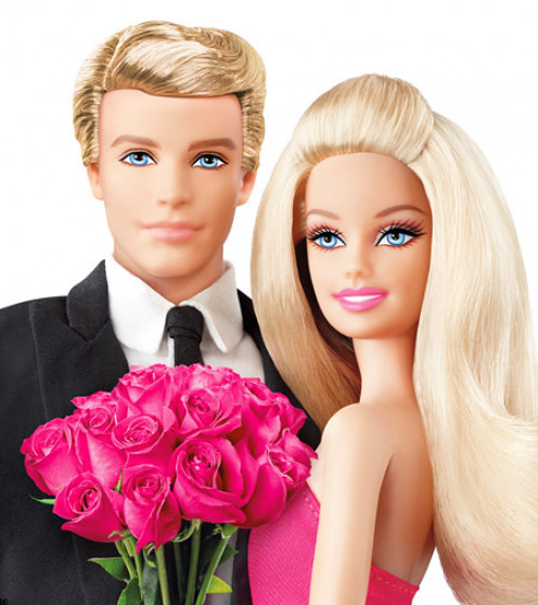 """""""Ken"""" and """"Barbie,"""" on their """"big day."""""""