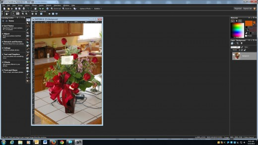 Colorize a black and white photo is easy to do with Paint Shop Pro X3