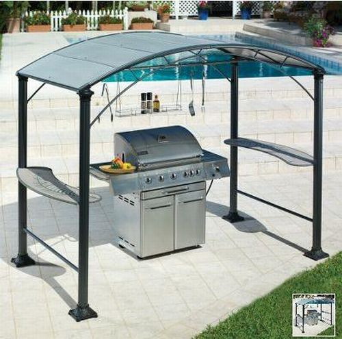A nice grill gazebo can make grilling that much more enjoyable for Dad on Father's Day.