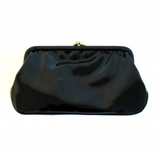 A black clutch is the perfect accessory.